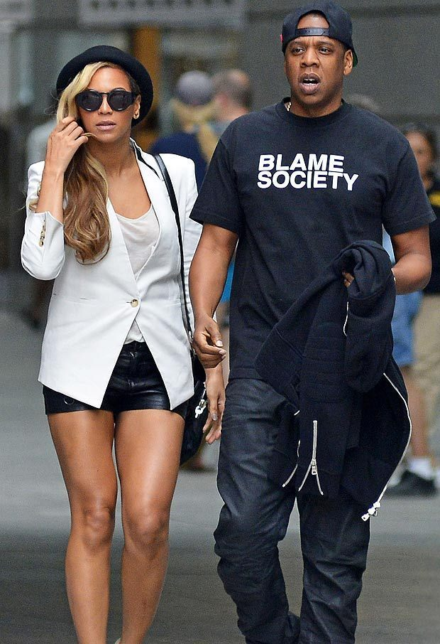 'Blame Society' T-shirt worn by Jay-Z.