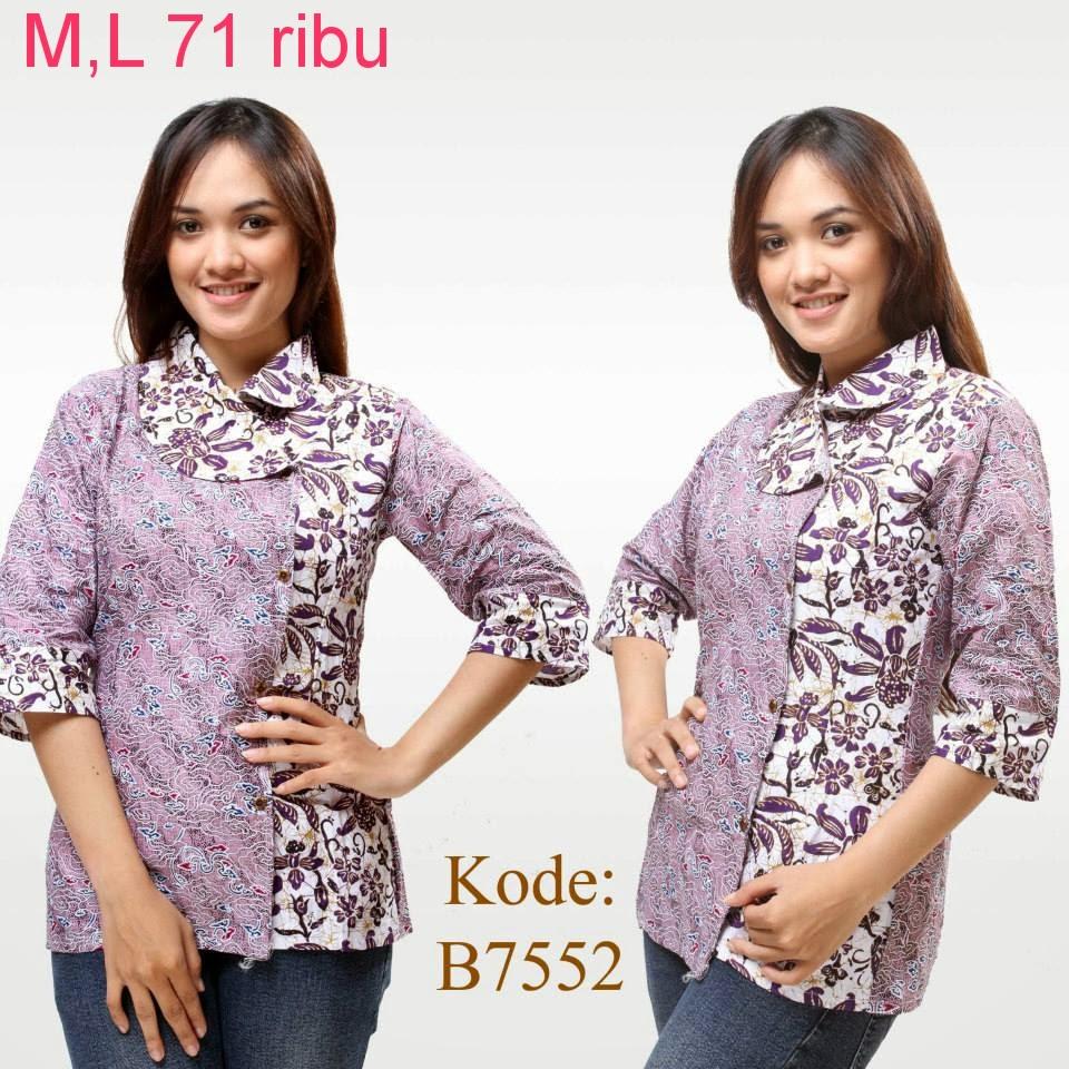 Model Baju Batik Wanita 2015: Model Baju Atasan Batik Wanita Modern