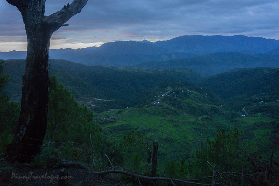 Before daybreak at Mt. Kupapey, the scenic Maligcong Rice Terraces from afar