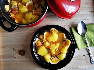 Almejas con patatas