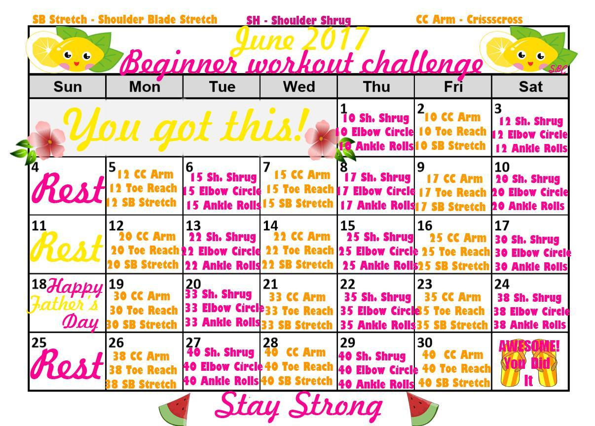30 day fitness challenge for beginners pdf