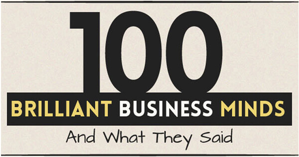 Whar are 100 Brilliant Business Minds' Quotes?