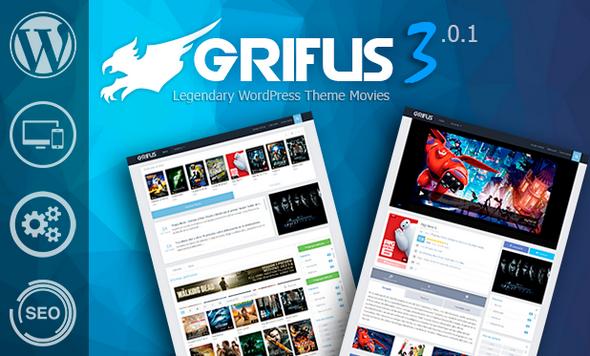 grifus v3 0 1 pro wordpress theme movies free download wp