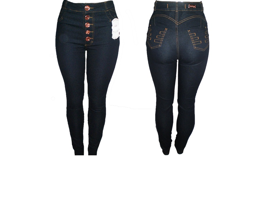 107a9b8eb Mercadão da Moda  Calça Jeans Feminina Cintura Alta Preta