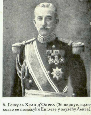 General Hely d'Oissel (36th corps), distinguished himself particularly in aiding the British at the taking of Lens.