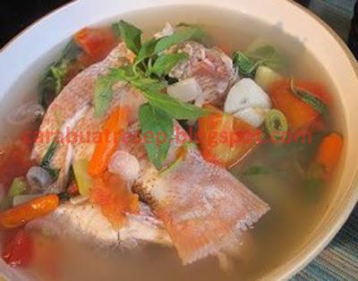 Foto Resep Sup Ikan Kakap Merah Kuah Bening Sederhana Spesial Asli Enak