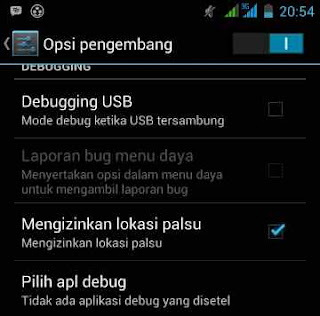 Cara aktifkan izin lokasi palsu android