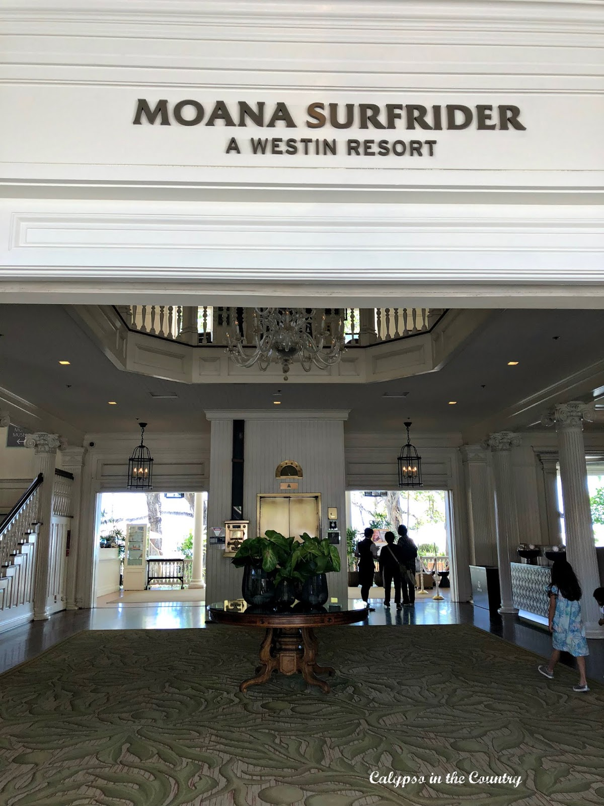 Lobby of the Moana Surfrider Hotel