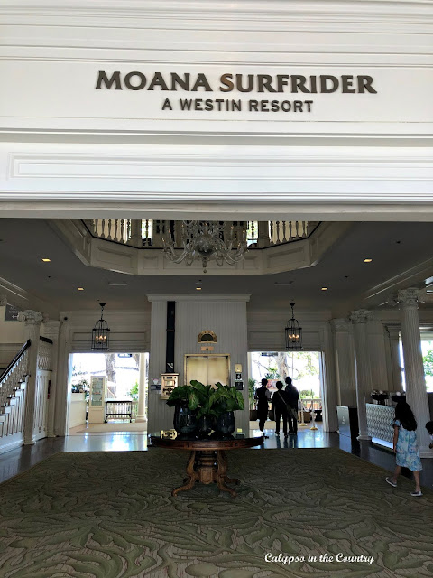 Lobby of the Moana Surfrider Hotel