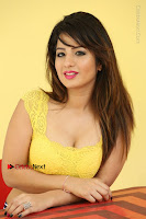 Cute Telugu Actress Shunaya Solanki High Definition Spicy Pos in Yellow Top and Skirt  0525.JPG