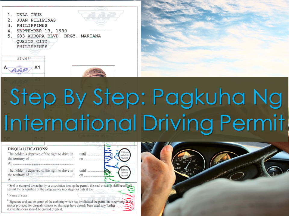 "An international driving permit is a must to Overseas Filipino Workers (OFWs) who works as a driver or those who frequently travel to different countries. The only way to acquire it in the Philippines is through the Automobile Association of the Philippines (AAP). You should apply for a membership and they will help you obtain your international driving permit.  Forunately, the membership fee is absolutely free for  OFWs. All you need to do is to present any valid proof of you being an OFW. (e.g. Seaman's Passport, Employment Contract abroad with valid POEA ID, etc…)    International Driving Permit Application Requirements     —Original and photocopy of Philippine Driver's License valid for at least one (1) year.    —Two (2) pieces latest 2×2 colored ID photo with white background.     —Foreign nationals, dual citizens and Filipino citizens born in other countries present the original passport plus photocopies of pages showing identification and date of last arrival. If you are a permanent resident, present your passport and/or Alien Certificate of Registration (ACR).    —Registration along with requirements no. 1 and 2.   Sponsored Links  Step by step procedure on how to get the international driving permit:      Step 1.  — Go to any AAP office and fill -up the application form. Do not leave any blank sections. If the information is not applicable for you, put  ""NA"".  The application form can be downloaded from their website.  To download the application form , click here:          Step 2  — Submit the original and photocopy of your valid Philippine drivers license together with two pieces 2x2 colored ID photo taken on a white background.        Step 3.  — Pay the corresponding membership and PIDP processing fee of P1,800 broken down as follows:    PHP 300 – AAP Joining Fee (Free for OFWs) PHP 1,200 – AAP Annual Registration PHP 300 – PIDP Processing Fee  VALIDITY: The validity of your international driving permit is one year from the date of issue or depending on the validity of your Philippine driver's license. If your Philippine driver's license is valid for more than one year, the PIDP will be valid for one year from the date of issue. If your Philippine driver's license is valid for less than one year, the PIDP will follow the validity of your Philippine driver's license.  If your PIDP expired while you were still abroad, you can renew your PIDP online by visiting the AAP Website as long as the card type Philippine license that was presented before has not expired yet.  If a temporary license was presented, the photocopy of the temporary license together with the original LTO Certification and Official Receipt should also be presented. For more information, go to www.aaphilippines.org/    Read More:  Popular Pinoy Stores In Canada   10 Reasons Why Filipinos Love Canada    Comparison Of Savings  Account In The Philippines:  Initial Deposit, Maintaining  Balance And Interest Rates  Per Annum   Mortgage Loan: What You Need To Know    Passport on Wheels (POW) of DFA Starts With 4 Buses To Process 2000 Applicants Daily    Did You Apply for OFW ID and Did You Receive This Email?    Jobs Abroad Bound For Korea For As Much As P60k Salary    Command Center For OFWs To Be Established Soon   ©2018 THOUGHTSKOTO  www.jbsolis.com   SEARCH JBSOLIS, TYPE KEYWORDS and TITLE OF ARTICLE at the box below"