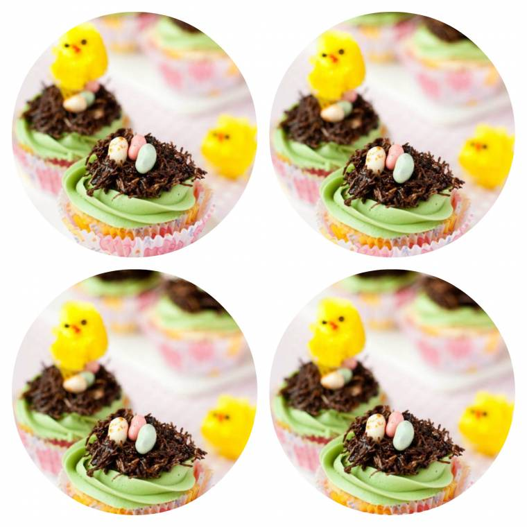 Jelly Bean Easter Nest Cupcakes: Guest Post