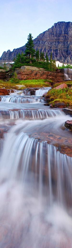 Waterfalls in Glacier National Park, Montana, USA