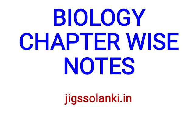 BIOLOGY CHAPTER WISE STUDY NOTE