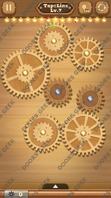 Fix it: Gear Puzzle [TapeLine] Level 7 Solution, Cheats, Walkthrough for Android, iPhone, iPad and iPod
