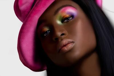 Retrato de mujer bonita afroamericana