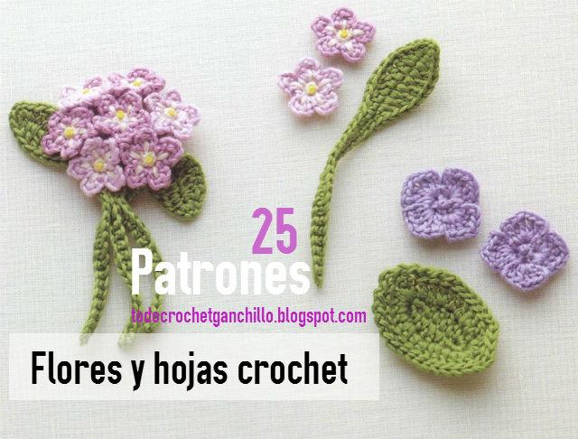 25 patrones de flores crochet