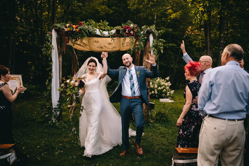 elegant nature jewish wedding; photo by The Spragues