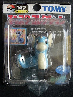 Dratini Pokemon figure Tomy Monster Collection black package series