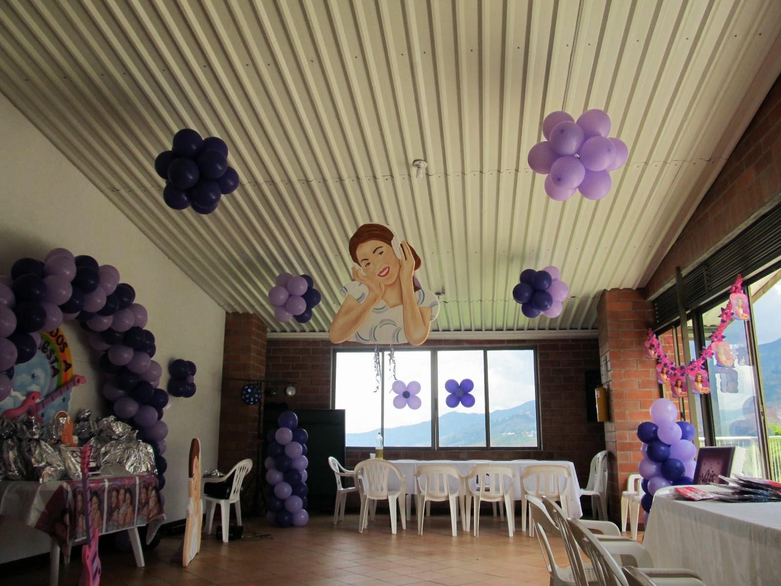 Decoracion fiesta tematica violetta