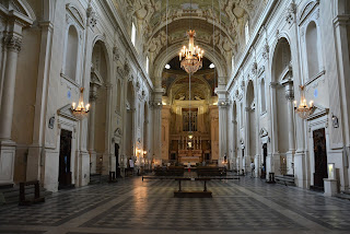 Inside the church of Santa Maria del Carmine