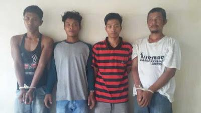 Polsek Perdagangan Bekuk 4 Orang Pengguna dan Pengedar Narkoba