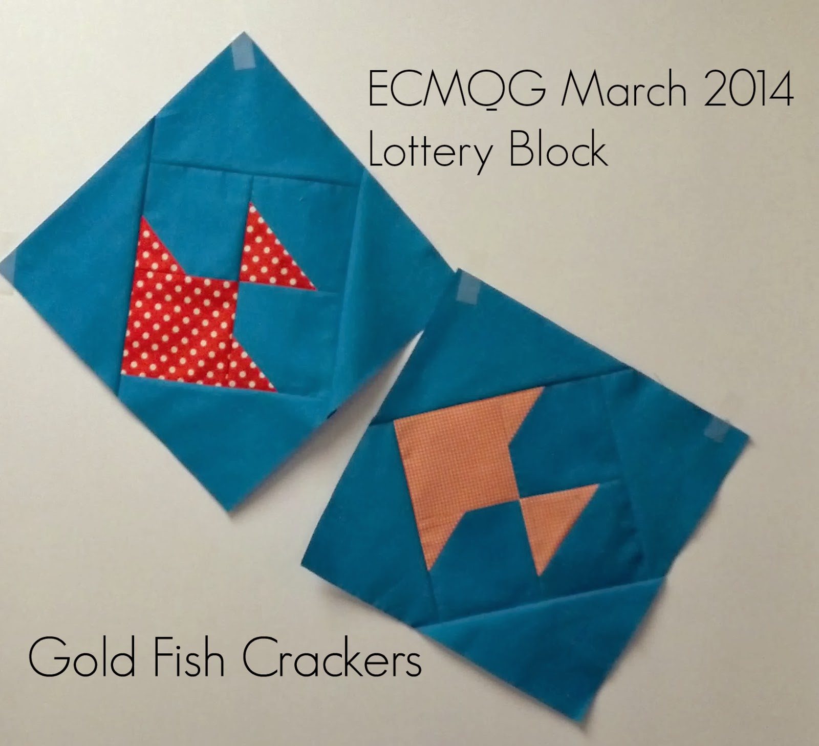 ECMQG Gold Fish Crackers Block Tutorial