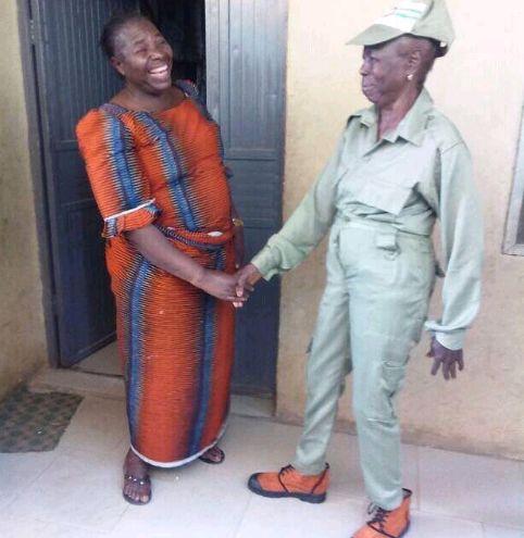 grandma in NYSC uniform