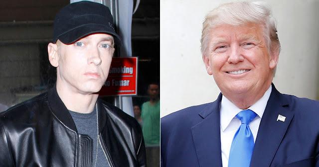O astro do hip hop Eminem chamou Donald Trump de racista e pediu a seus fãs que não apoiem o presidente americano, em um vídeo exibido durante a BET Hip Hop Awards na terça-feira à noite.