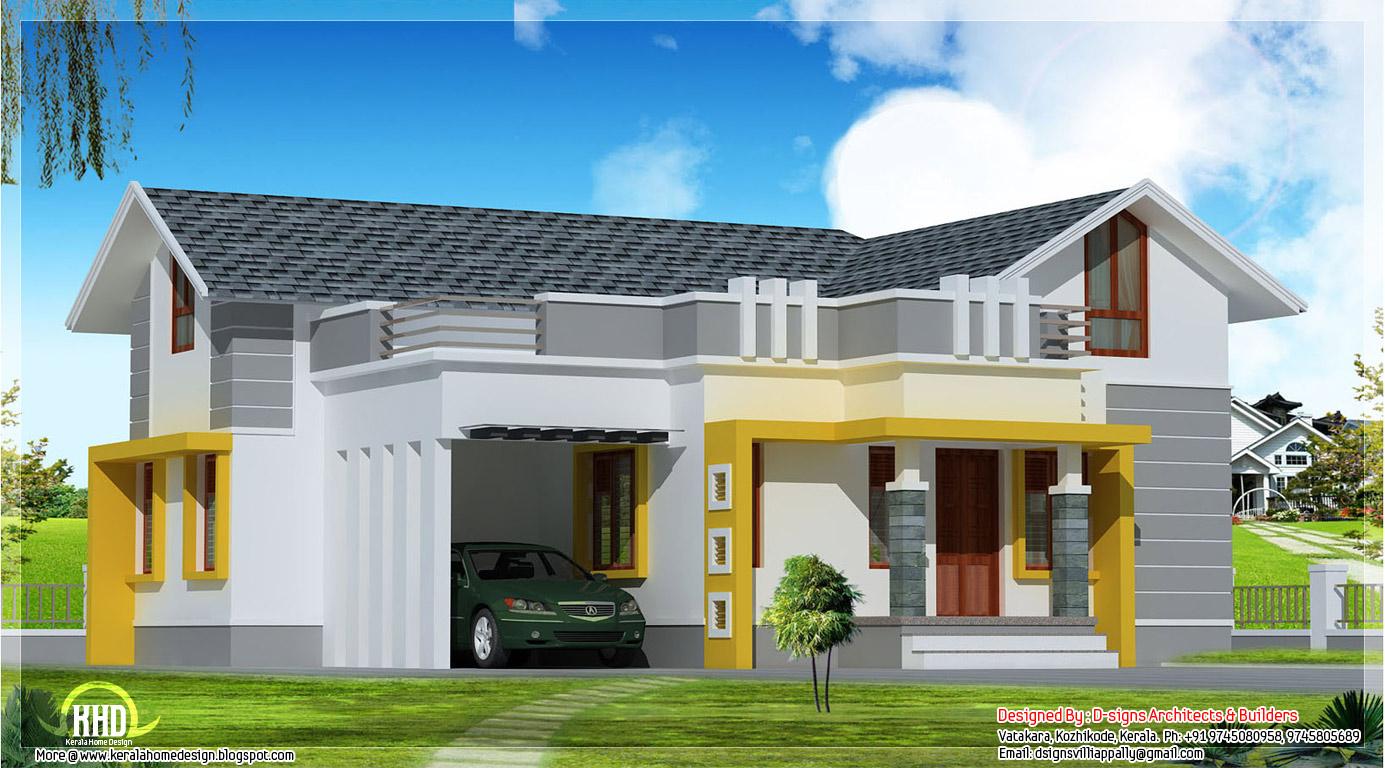Stylish Single Floor Home In 1200 Sqfeet Kerala Home