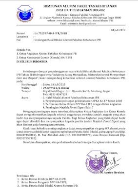 Undangan Halal Bil Halal HA-E IPB