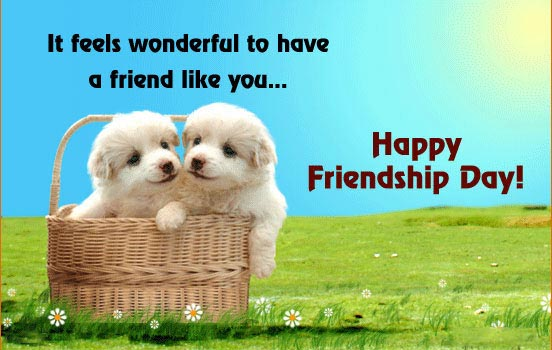 cute puppy friendship day