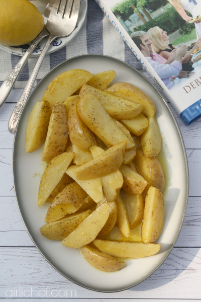 Lemonates Patates (Lemon Potatoes) #GreekSummer blog tour