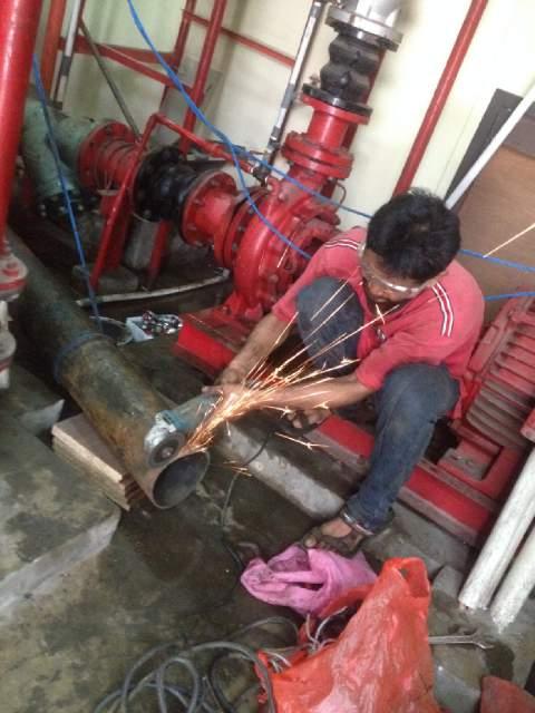 Jasa Perbaikan Hydrant System Gedung bertingkat foto project