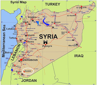 Syria Border Regions with Jordan