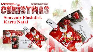 Souvenir Flashdisk kartu Natal