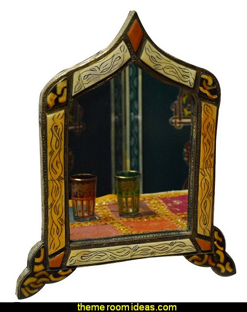 Moroccan Mirror  Moroccan decorating ideas - Moroccan decor - Moroccan furniture - decorating Moroccan style - Moroccan themed bedroom decorating ideas - Exotic theme decorating - Sultans Palace - harem style bedrooms Arabian nights Moroccan bedroom furniture - moroccan wall decoration ideas