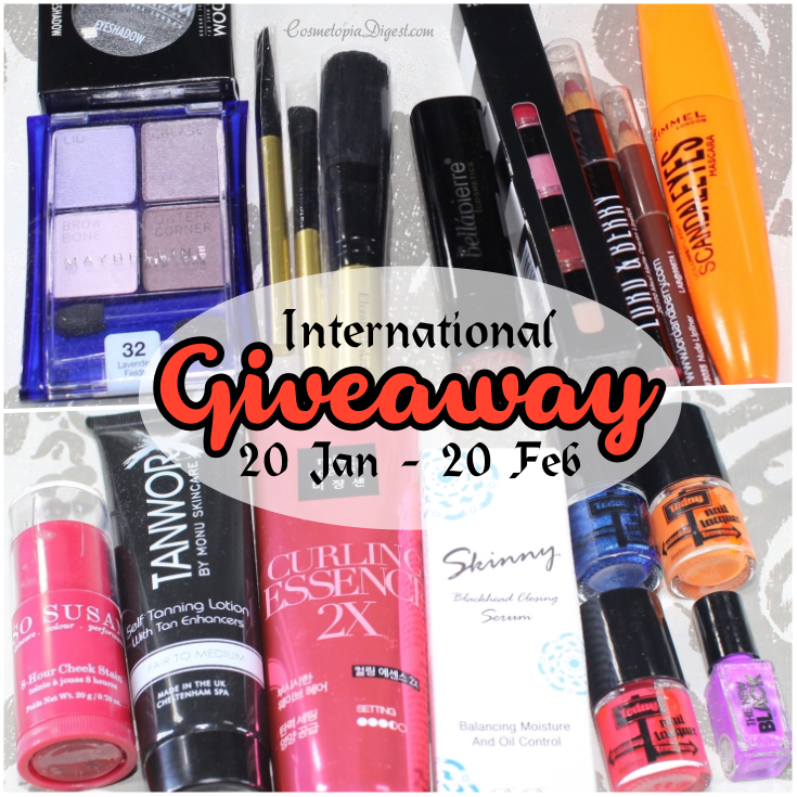 Beauty and makeup giveaway, open worldwide.
