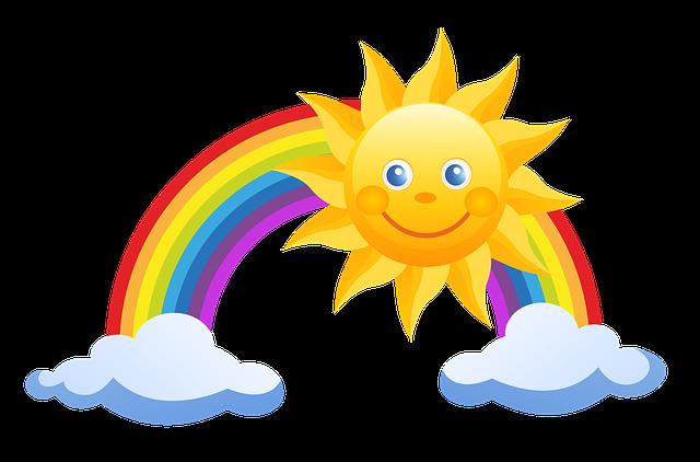Cartoon: Rainbow and Sun