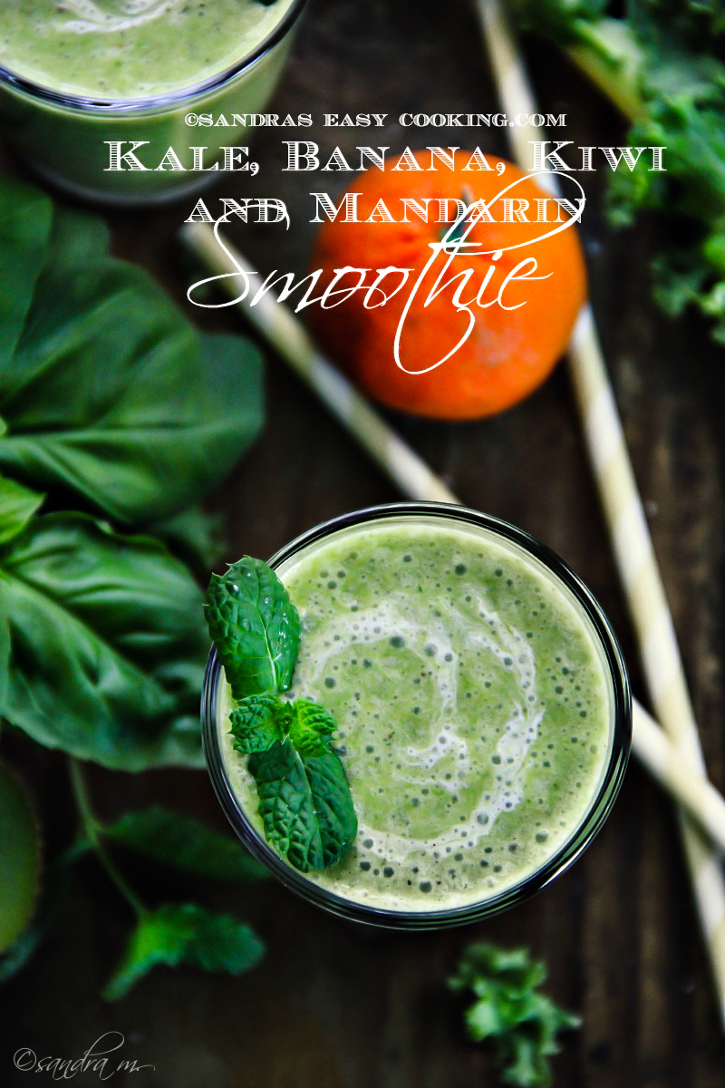 Shamrock Smoothie: Kale, Banana, Kiwi and Mandarin Smoothie