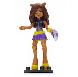 MH Ghouls Collection 3 Clawdeen Wolf Mega Blocks Figure