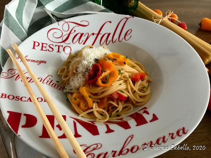 spaghetti-pimientos-cherrys-grissini