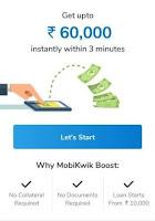 mobikwik 60000 loan offer