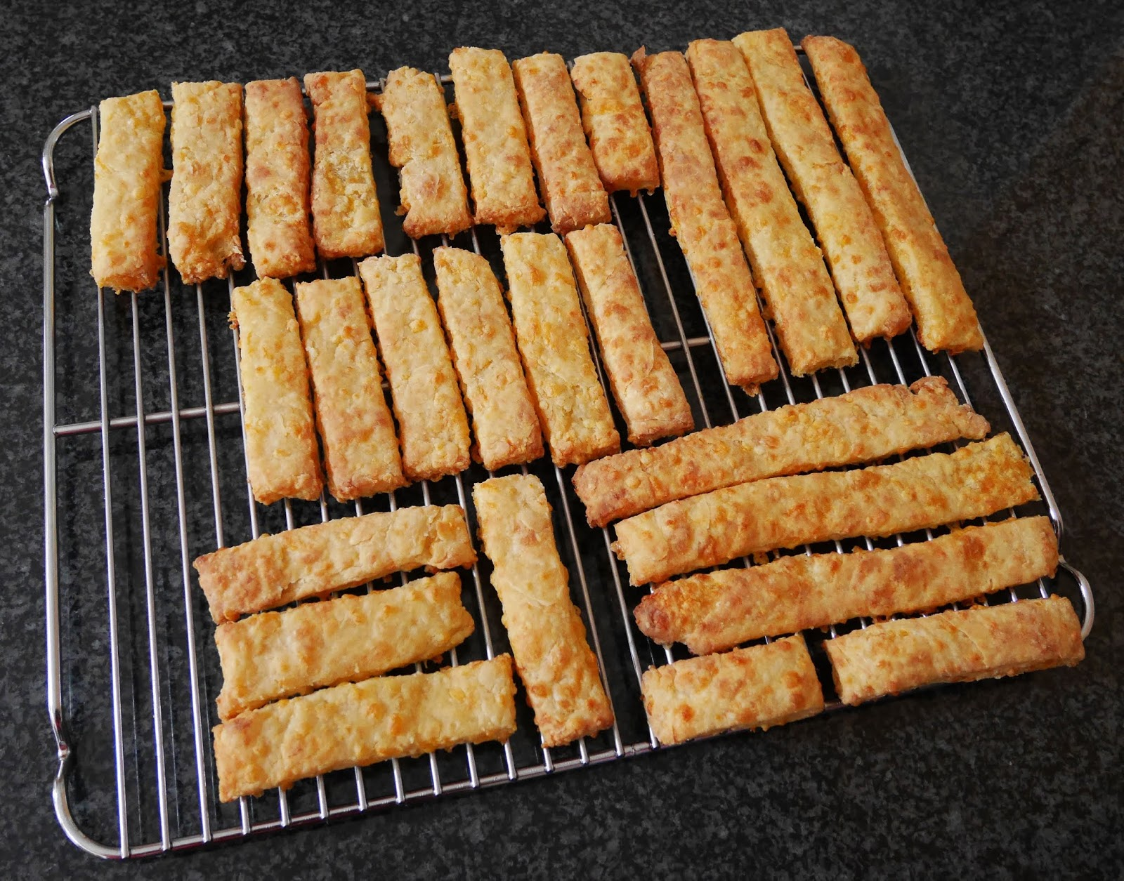Homemade cheese straws for the afternoon tea
