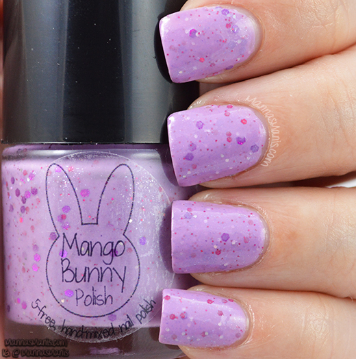 mango bunny faithful student, purple crelly nail polish