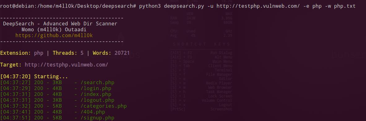 DeepSearch - Advanced Web Dir Scanner