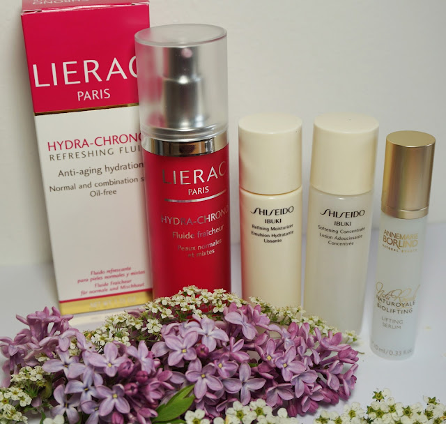 Morgendliche Beauty Routine Gesichtspflege - Serum, Creme Lierac, Shiseido, Börlind
