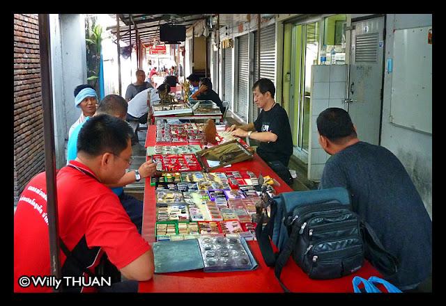 Thai amulets at Phuket Amulet Market