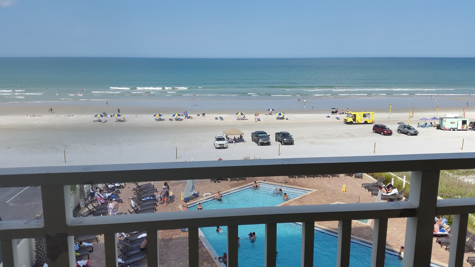 We Were On The 4th Floor Room 411 This Photo Was Taken A Sunday Afternoon When First Arrived As You Can See Beach Not Very Crowded
