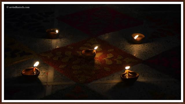 Rangoli, Diyas, HD Pic, Lightened Diyas,